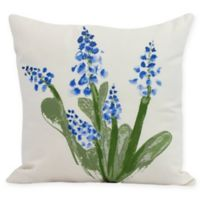 E by Design Bluebell Square Pillow in Blue