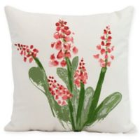 E by Design Bluebell Square Pillow in Red