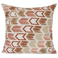 Arrow Sqaure Throw Pillow in Taupe