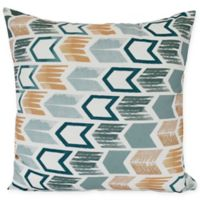 Arrow Sqaure Throw Pillow in Teal