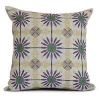 E by Design Chaney Square Pillow in Green