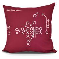 E By Design Half Back Dive Square Pillow in Cranberry