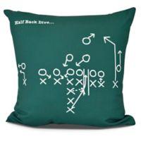 E By Design Half Back Dive Square Pillow in Green