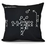 E By Design Half Back Dive Square Pillow in Black