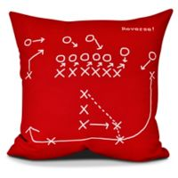 E by Design Reverse! Square Pillow in Red