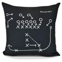 E by Design Reverse! Square Pillow in Black