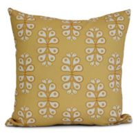 E by Design Wacky Paisley Square Pillow in Yellow
