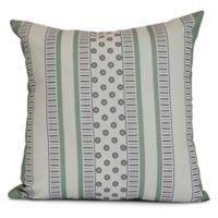 E by Design Comb Dot Striped Square Pillow in Purple