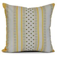 E by Design Comb Dot Striped Square Pillow in Grey