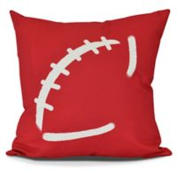 E by Design Football Square Pillow in Red