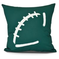 E by Design Football Square Pillow in Green