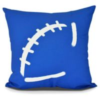E by Design Football Square Pillow in Royal Blue