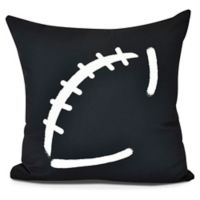 E by Design Football Square Pillow in Black