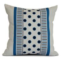 E by Design Center Stripe Square Pillow in Navy Blue