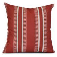 E by Design Dashing Stripe Square Pillow in Coral