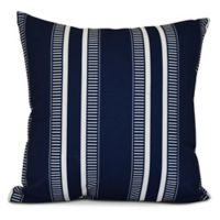 E by Design Dashing Stripe Square Pillow in Navy
