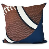 E by Design TD Square Pillow in Navy Blue