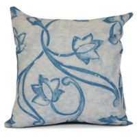 E by Design Eleanor Floral Square Pillow in Blue