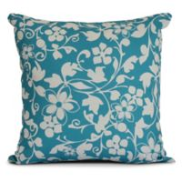 Evelyn Square Throw Pillow in Aqua