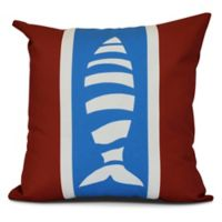 Puzzle Fish Coastal Square Throw Pillow in Red