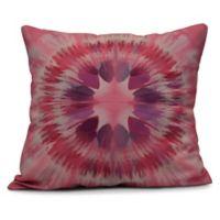 Shibori Burst Square Throw Pillow