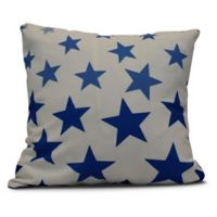 Just Stars Square Throw Pillow in Royal Blue
