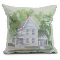 Farmhouse Square Throw Pillow in Green