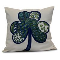 Sham-Tangle Square Throw Pillow in Blue
