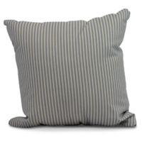 Ticking Stripe Square Throw Pillow in Navy Blue