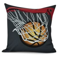 E by Design! All Net Square Throw Pillow in Black