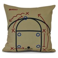 E by Design! Motion Square Throw Pillow in Gold