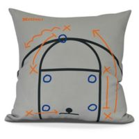 E by Design! Motion Square Throw Pillow in Grey