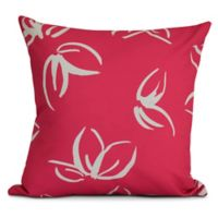 E by Design! Eva Floral Frolic Square Throw Pillow in Pink