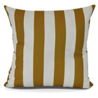 E by Design! Rugby Stripe Square Throw Pillow in Yellow