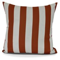 E by Design! Rugby Stripe Square Throw Pillow in Orange