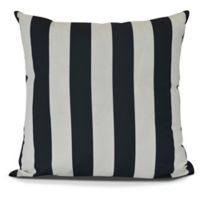 E by Design! Rugby Stripe Square Throw Pillow in Black