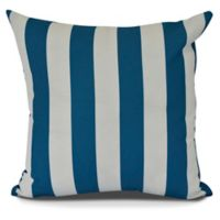 E by Design! Rugby Stripe Square Throw Pillow in Teal