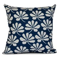 E by Design! Ingrid Floral Frolic Square Throw Pillow in Blue