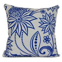 Ella Floral Square Throw Pillow in Blue
