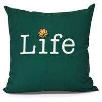 Life + Ball Throw Pillow in Green