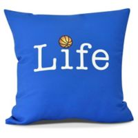 Life + Ball Throw Pillow in Royal Blue