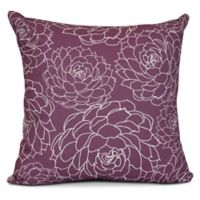 Olena Floral Square Throw Pillow in Purple