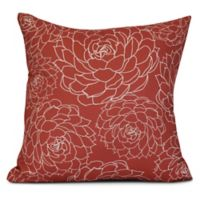 Olena Floral Square Throw Pillow in Orange