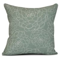 Olena Floral Square Throw Pillow in Green