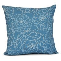 Olena Floral Square Throw Pillow in Blue