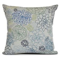 Opal Square Throw Pillow in Navy