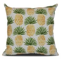 Pineapple Stripes Sqaure Throw Pillow in Green