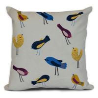 Tweets Coastal Sqaure Throw Pillow in Yellow