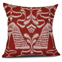 Crown Sqaure Throw Pillow in Red