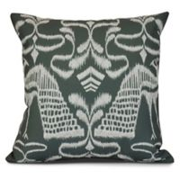 Crown Sqaure Throw Pillow in Grey